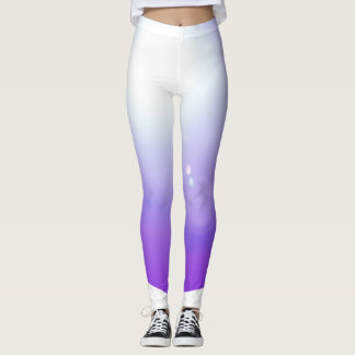 Purple Leggings Fashion Workout Sports Brights