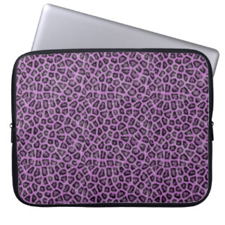 Purple leo print laptop sleeve
