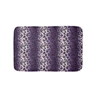 PURPLE LEOPARD BATH MAT