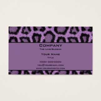 Purple Leopard Business Card
