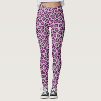 Purple Leopard Leggings