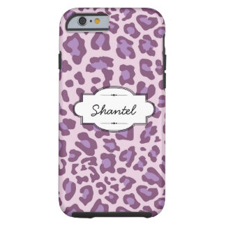 Purple Leopard Print Custom iPhone 6 Case