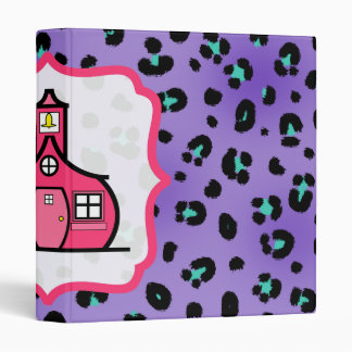 Purple Leopard Print Fancy Teacher Binder