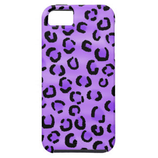 Purple Leopard Print Pattern. iPhone 5 Cover