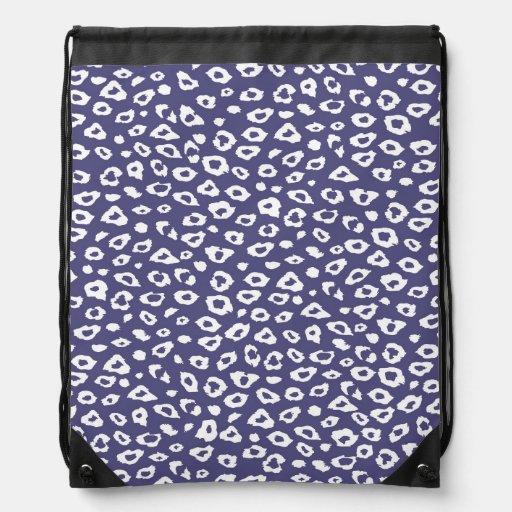 Purple Leopard Print Backpacks