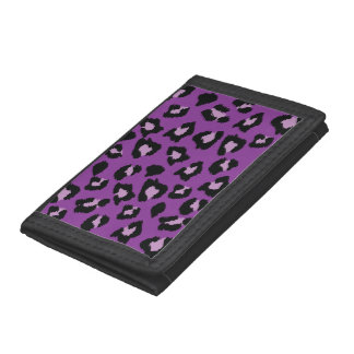 Purple Leopard Print Wallet