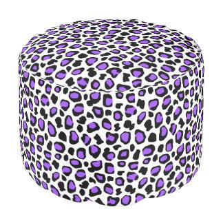Purple Leopard Spots Animal Print Pattern Girls Pouf