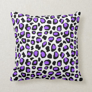 Purple Leopard Spots Animal Print Pattern Girls Throw Pillow
