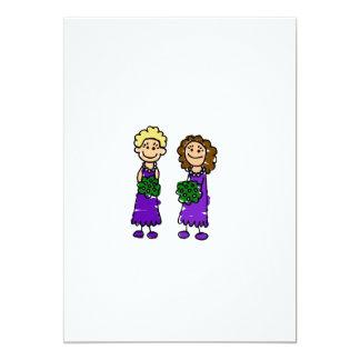 "Purple Lesbian Brides 5"" X 7"" Invitation Card"