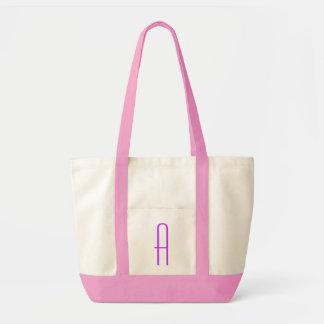 "Purple letter ""A"" Tote Bag"