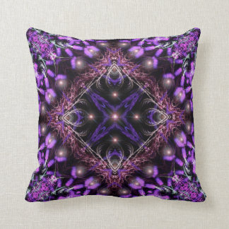 Purple Light Fractal Tapestry  American MoJo Pillo Throw Pillow