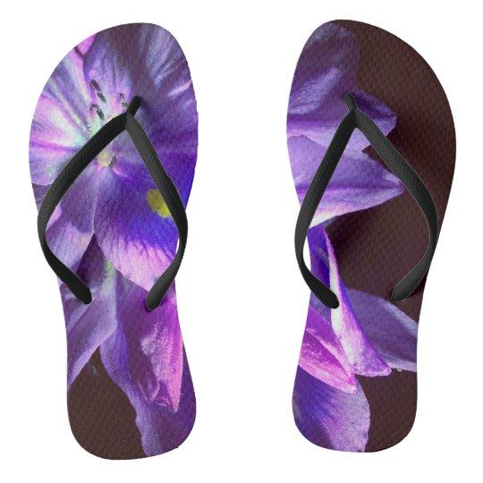 Purple Light Painted Slippahs Flip Flops