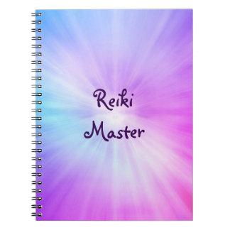 Purple light Reiki Master design Notebook