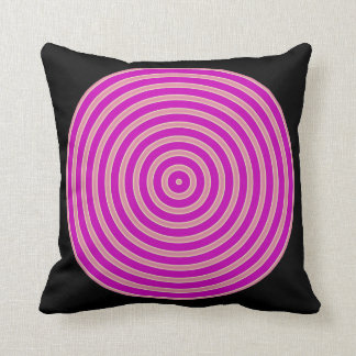 purple light yellow black Throw Pillow