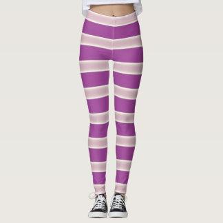 Purple Light Yellow line Leggings