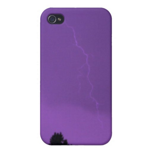Purple Lightning 3 4/4s  iPhone 4/4S Case