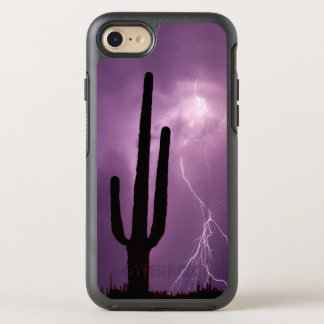 Purple lightning and cactus, AZ OtterBox Symmetry iPhone 8/7 Case