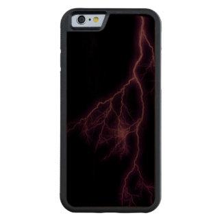 Purple Lightning Carved® Walnut iPhone 6 Bumper