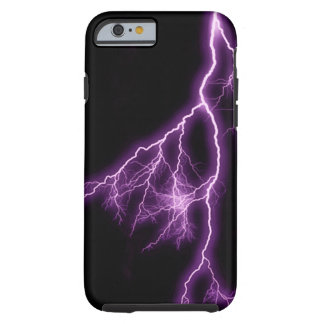 Purple Lightning Tough iPhone 6 Case