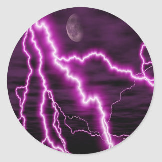 Purple lightning sticker