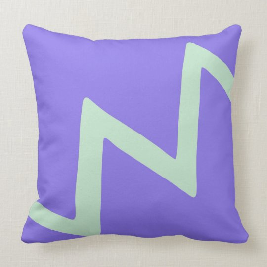Purple Lightning Strike Minimalist Design Throw Pillow