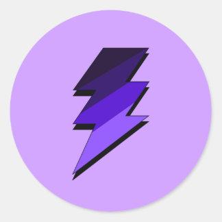 Purple Lightning Thunder Bolt Sticker