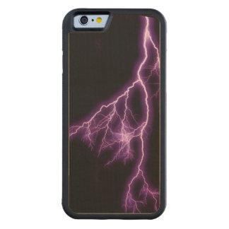 Purple Lightning Carved® Maple iPhone 6 Bumper Case