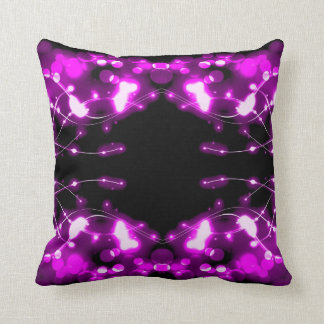 Purple Lights Abstract Pillow
