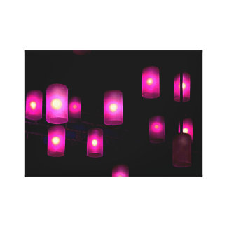 Purple Lights Canvas Print