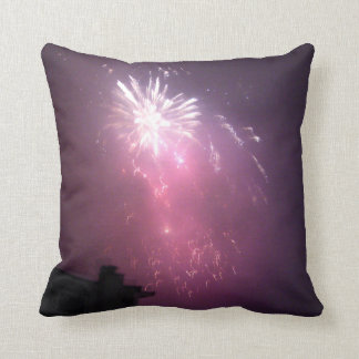 Purple Lights In The Sky Throw Pillow