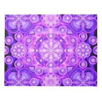 Purple Lights Mandala Notepad