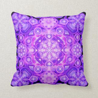 Purple Lights Mandala Throw Pillow