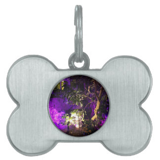 Purple Lights Pet Name Tags