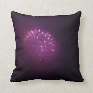 Purple Lights Throw Pillow