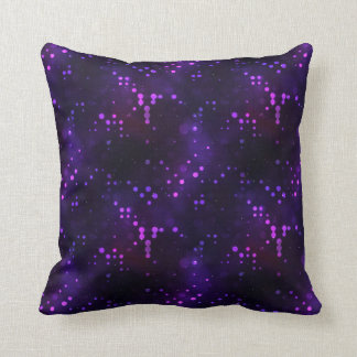 Purple Lights Polka Dot Design Throw Pillows