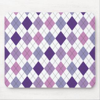 Purple, Lilac, and Pink Argyle Preppy Mousepad