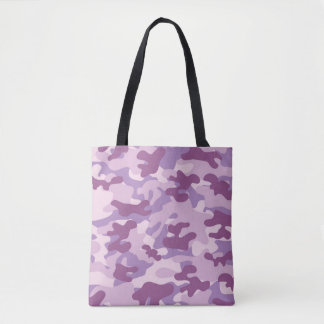 Purple Lilac Color Camouflage Pattern Tote Bag