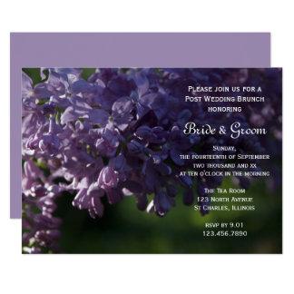 Purple Lilac Flowers Post Wedding Brunch Invite