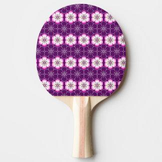 Purple lilac pink floral sakura pattern ping pong paddle