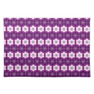 Purple lilac pink floral sakura pattern placemats