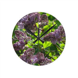 Purple Lilac Wall Clocks