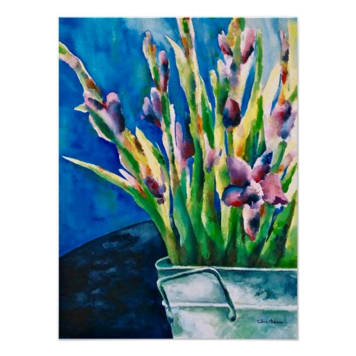 Purple Lilies Poster