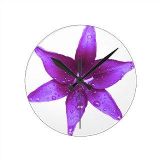 Purple Lily Clocks