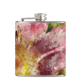Purple Lily Hip Flask