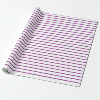 Purple Lines White Wrapping Paper