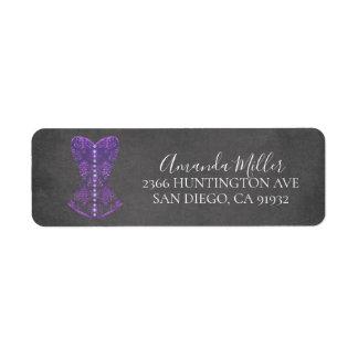 Purple Lingerie Bridal Shower Return address
