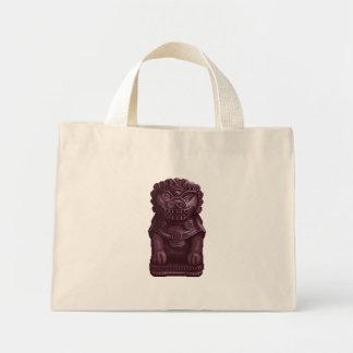 Purple Lion Dog Pixel Art Tote Bags