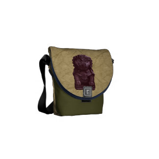 Purple Lion Dog Pixel Art Courier Bag