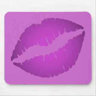Purple Lipstick Mouse Pad