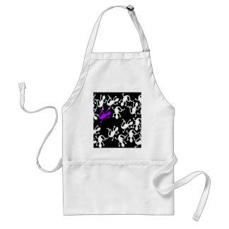 Purple lizard pattern standard apron